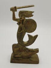 "Mermaid Of Warsaw Statue Brass 5"""