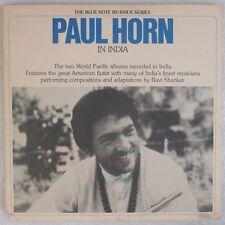 PAUL HORN: In India USA Flute Spiritual Jazz, Ravi Shankar BLUE NOTE 2x LP