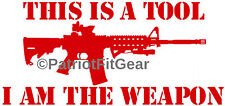 This is a tool,I am a weapon,#2A,Molon Labe,Gun Rights,DTOM,USA,2A,Vinyl Decal
