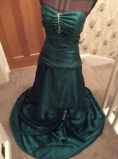 Ladies Beautiful Green Custom-made Prom Evening Dress Size 10