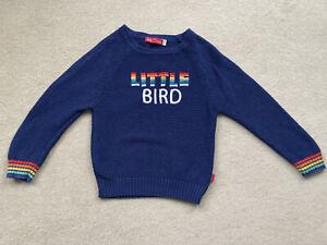 Little Bird Boys Navy/Rainbow Jumper Size 3-4 Years VGC