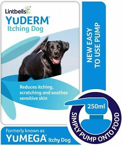 Lintbells YuDerm Itching Dog - Omega 3 EPA for Sensitive or Itchy Skin - 250ml