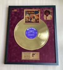 The James Brown Show Vinyl Gold Metallized Record Mounted In Frame