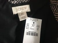 J. Crew Factory Excursion Quilted Puffer Vest In Herringbone NWT Black XXS-XXL