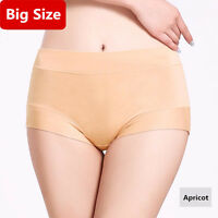 Women Panties Solid M-3XL Modal Briefs Soft Breathable Mid Rise Underwear Women