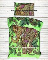 Indian Elephant Mandala Doona Duvet Cover Quilt Handmade Comforter Set Pillow