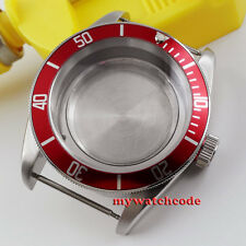 fit Eta 2824 2836 miyota Movement C59 41mm red insert sapphire cystal Watch Case