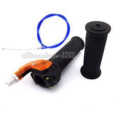 Blue Throttle Cable Twist Hand Grip For Mini Moto Dirt Pocket Bike Kids ATV Quad