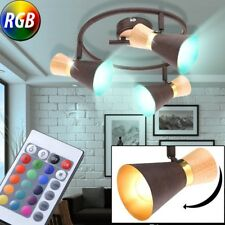 RGB LED plafonnier dimmable salle à manger spot REMOTE CONTROL projecteur or