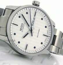 MIDO MEN SWISS MADE MULTIFORT AUTOMATIC DAY-DATE SAPPHIRE 42mm T0054301103100
