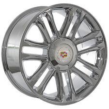 "22""x9"" Escalade Platinum Edition Rims Replica Chrome OE Style Wheels 24 ESV"