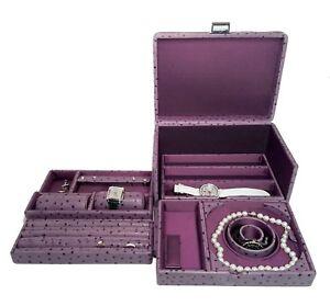 Scatola Del Tempo - Jewelry Storage Case Tesoro C Ostrich Amethyst