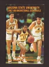Arizona State Sun Devils--1987-88 Basketball Pocket Schedule--Miller Lite