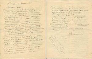 OPERA COMPOSER Ruggiero Leoncavallo autograph letter signed