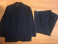 Vtg 40S 50S Mens 40 Blue Rockabilly Gabardine Suit Jacket Pants