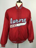 VTG 70s 80s 90s West Aurora Baseball Team Jacket Chicago Illinois USA XXL 2XL