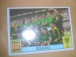 1970 PANINI MEXICO 70 ORIGINAL UNUSED STICKER.TEAM.BRASIL.BRAZIL. 1958.