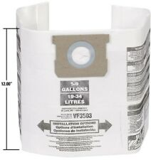 RIDGID Dust Bags 12-Pack For 6 Gal to 9 Gal Wet Dry Vacs Shop-Vac 5 Gal to 8 Gal