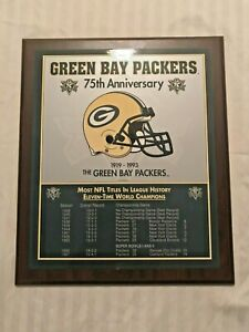 GREEN BAY PACKERS 75th Anniversary Championship Plaque