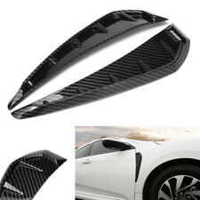 Car Front Fender Side Cover Air Wing Vent Carbon Fiber Pattern for Honda Civic