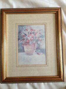 Lovely Gilt Framed Floral Print by Manuscript Limited England: Series 714 ref 1