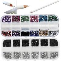 Latest 2Pcs Rhinestones Picker Pencil Nail Art Tool Wax White Pen For Craft