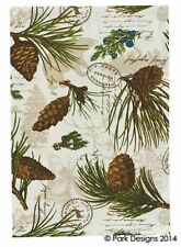 Park Designs Walk in the Woods 157-15 Lot of 2 Pot Holders Pine Cones Cottage