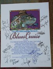 BLUES CRUISE POSTER SIGNED By Tommy Castro MARCIA BALL Elvin Bishop LOS LOBOS