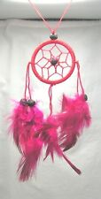 Red Dreamcatcher, Handmade, Hand on the rear view mirror, in a Window from a Fan