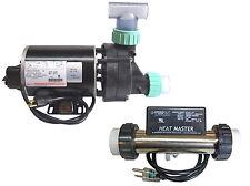 Whirlpool Bathtub Jet Pump & Heat Master Inline Heater System w/ Unions & Tee