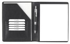 Schreibmappe A5 Rindnappaleder, schwarz,  excl. Marke EuroStyle