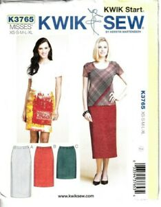 Kwik Sew Sewing Pattern Skirts Pencil Wiggle 3 Lengths XS-XL Ladies 3765 Uncut