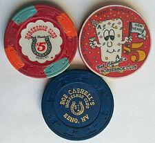 "$1 & $5 Bob Cashell's Horseshoe Club ""Lot of 3"" - Reno Nevada Casino Chips"