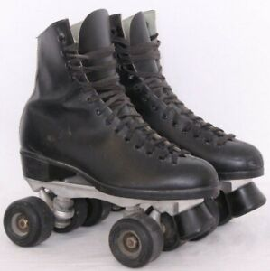 Sure Grip Super X 5R Black Leather Lace Up Roller Skate Wheeled Unisex Adult