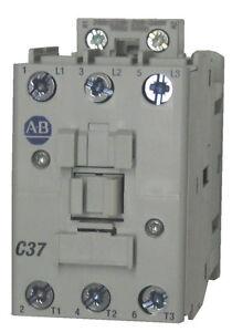 Allen Bradley 100-C37KJ00 37 AMP 3 Pole Contactor with a 24 volt AC coil