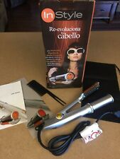 In Style Rotating Iron Curling Brush Adjustable Heat NIB See Note in Description
