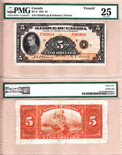 PMG VF25 1935 $5 Prince of Wales - French Variety. Banque Du Canada BC-6