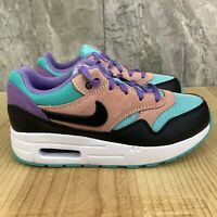 Nike Air Max 1 NK Size 3Y Youth Have A Nike Day Black Purple Casual Shoes