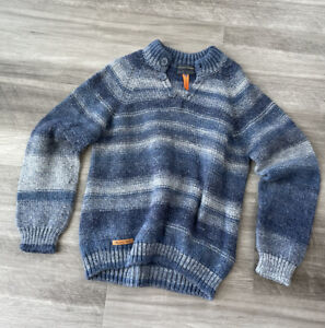 Mayoral Boys Blue Striped Knit Sweater Size 7 Pullover Spain