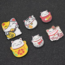 6pcs Cartoon Japan Lucky Cats Fridge Magnets Whiteboard Refrigerator Stickers