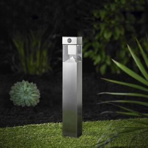 Solar Gartenleuchte Led Bewegungsmelder Leuchte Edelstahl Garten eckig SO32