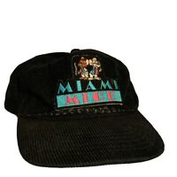 Vintage 1986 Miami Mice Corduroy Hat Miami Vice Parody Wild Side West Strapback