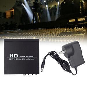 Converter Box HD Video Converter Scart to HDM Coaxial Audio 720P 1080P
