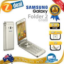 (NEW SEALED BOX) SAMSUNG GALAXY FOLDER 2 G1600 GOLD 16GB UNLOCKED PHONE AUS WTY