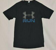 Under Amour Men's Running Heatgear Logo Short Sleeve T-Shirt  Black Size XL