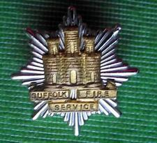 More details for obsolete enamel vintage cap badge suffolk fire brigade service