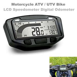 Motorcycle ATV/UTV LED Speedometer LCD Digital Odometer Guage Engine Temperature