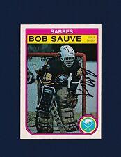 Bob Sauve signed Buffalo Sabres 1982 Opee Chee hockey card