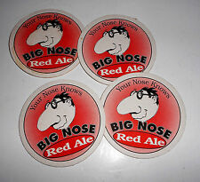 BIG NOSE RED ALE BEER COASTER MAT EXTREMELY COOL PIECES 4 COASTERS