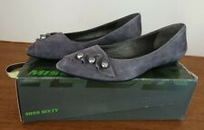 Womens Miss Sixty Flat Leather Shoes 5. Worn Twice,